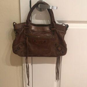 Balenciaga First Bag in Brown